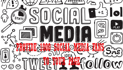 Provide 1000 social media Fans to your page ASAP