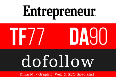 Publish a guest post on Entrepreneur - Entrepreneur.com - DA90, TF77