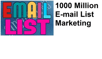 Send 1000 Million E-mail Liste Marketing