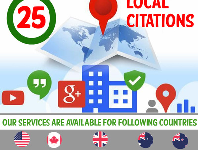Offer 25 White Label Local Citations for UK, USA, CA, NZ & AU Businesses