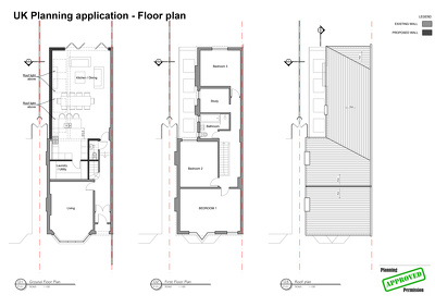 planning application drawings and submit to council