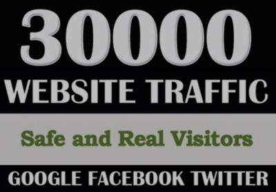 Real 30,000 Web Traffic WORLDWIDE from Search Engine and Social Media