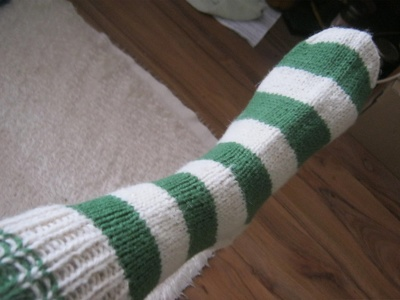 Hand knit knee-long warm wool socks for adults