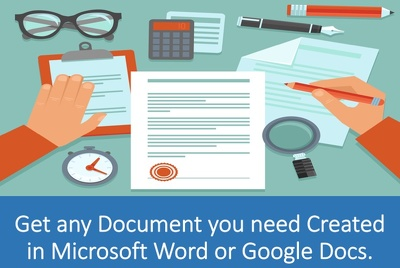 create any Document for You in Microsoft Word or Google Docs