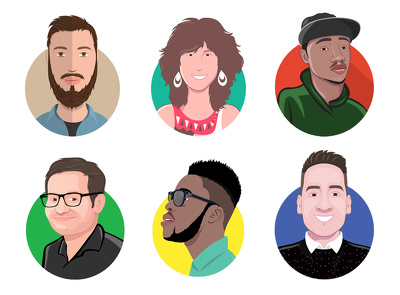 Design your awesome flat avatar or icon