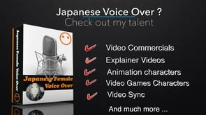 Record Japanese female Voice Over up to 100 characters in Japanese