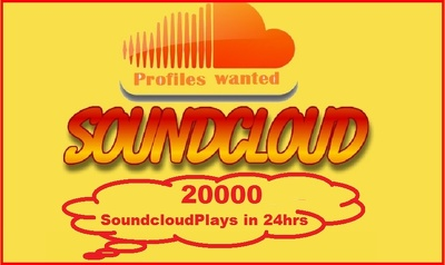 Get 20000 SoundCloud Plays Guaranteed in just 24hrs