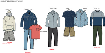 I can illustrate up to five outfits in colour CAD drawings (mens+womens+accessories))
