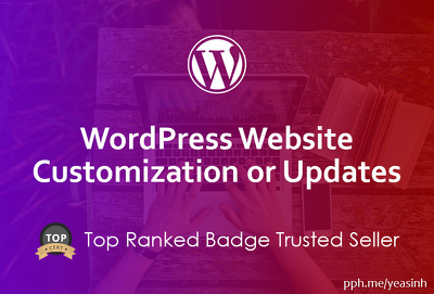 1 hour of customization or updates for your WordPress site *Top*