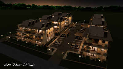 Design 3d photorealistic render of single House / Building