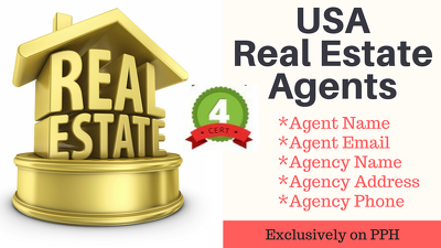 Provide 10k unique Real Estate Agent contact from USA