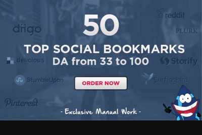 Do 50 Manual Top Social Bookmarks PR4 to PR8, detailed report