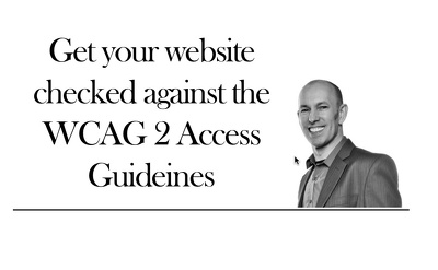 Website accessibility audit - checked against WCAG 2.0 Guidelines