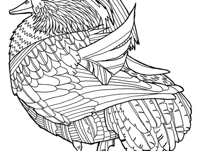 Design colouring page