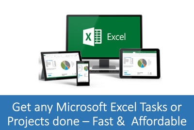 Quickly perform any 1 Microsoft Excel Tasks or Projects for You