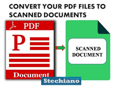 PDF Conversion to Scanned Documents