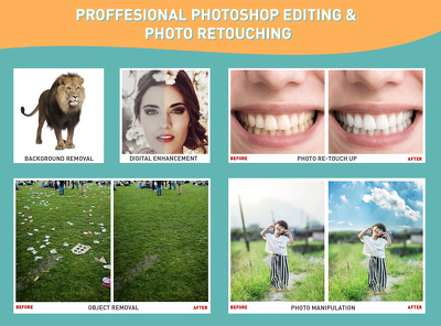 Professionally do any Photoshop editing work (image editing, photo retouching & MORE)