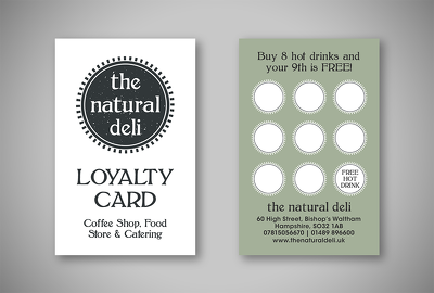 Design a double sided loyalty card