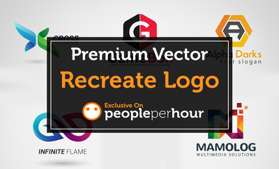 Convert or Recreate Logo to Vector in only 1 to 2 hours