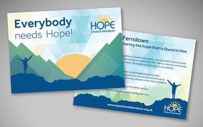 Design A6 postcards, flyers, vouchers or leaflets