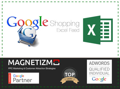 Set up your Google shopping excel feed for 30 products