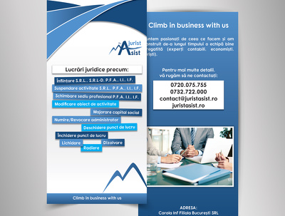 Design your double sided Leaflet, Flyer - unlimited amends