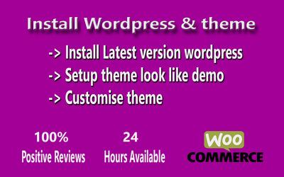Install wordpress and setup wordpress theme look like demo