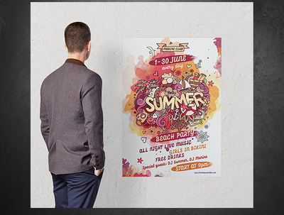 Design, print and deliver event posters ( multiple sizes )
