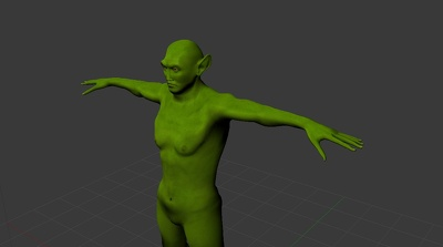 Create fully modeled and texturized 3D game character with/without references