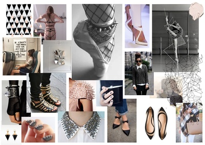 Prepare a mood board for your footwear or accessories range