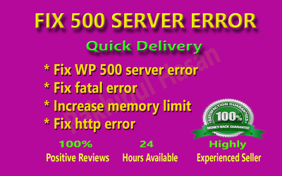 Fix 500 internal server error from Wordpress website within an hour