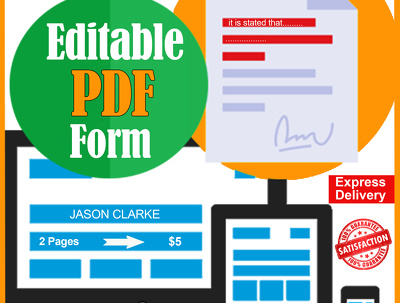 Create editable pdf for you