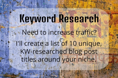 Provide a list of 10 Keyword-researched blog post titles for your website
