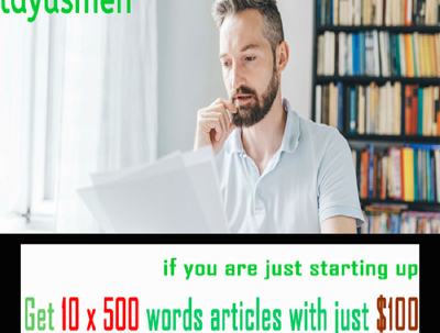 Write 10 x 500 words SEO articles