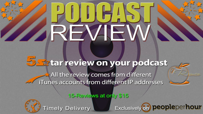 Post 15 review with 5star rating for your iTunes podcast