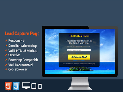 Design responsive lead generation, splash page or squeeze page just in 15 hours