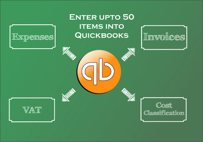 Enter upto 50 items into your quickbooks online account