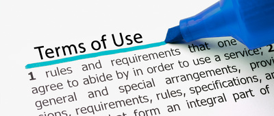 Produce your Websites Terms of Use/Terms and Conditions