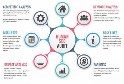 Give you a human SEO audit of your website, provide onsite & offsite solutions