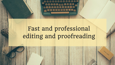Proofread and edit your content to a professional standard (per 1,500 words)
