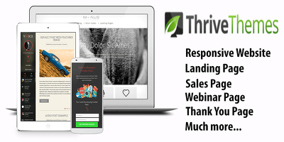 Create Conversion Focused Website using Thrive Themes