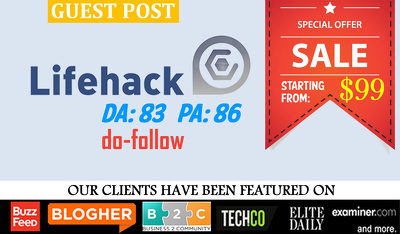 Guest post on LifeHack | LifeHack.org | DA83 PA86 with do-follow link