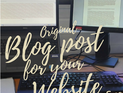 Write an original SEO friendly engaging blog post for your website in native English