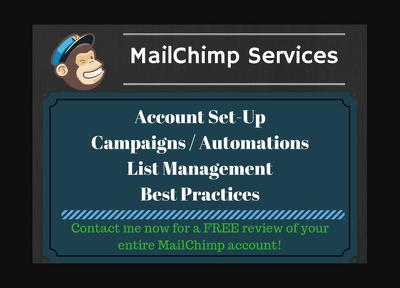 Setup your mailchimp template and create a nice email template with a banner.