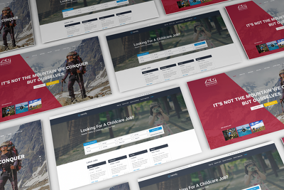 Put together an impressive website home page or individual page in a PSD .
