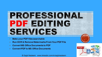 Run OCR, remove watermarks, and convert your PDF files