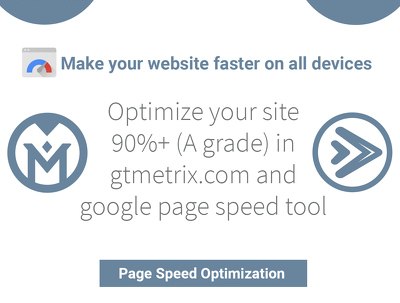 Optimize your website speed to get 90%+ score on GTMetrix and Google Page Speed Tool