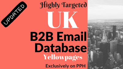 Provide targeted Email List, B2B Business leads from UK