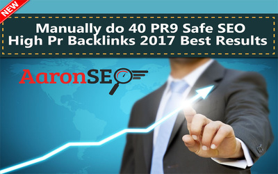 Do manually 40 PR9 Safe SEO High Pr Backlinks 2017
