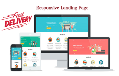 Create outstanding responsive unique Landing or Squeeze page for you